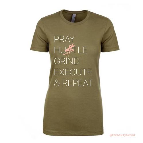 Pray, Hustle & Repeat T-Shirt (Short Sleeve)