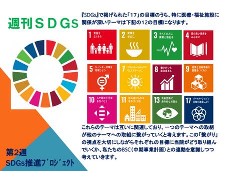 週刊SDGs 第2週