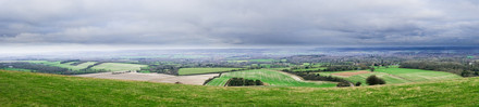 North from Combe Gibbet