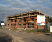 Testway House Andover in construction