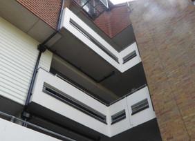 Balcony detail in refurbished development