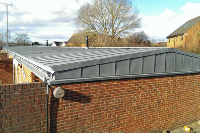 Zinc garage roofing