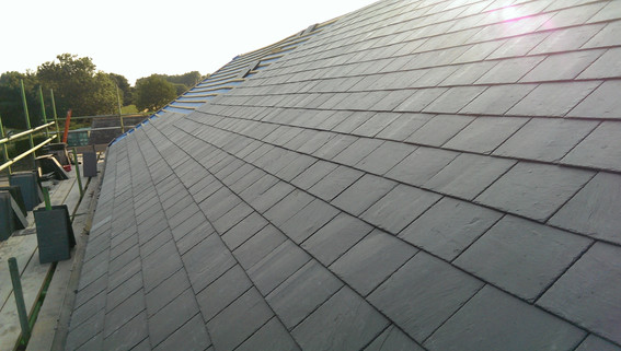 Traditional slate roofing