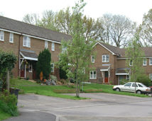 social housing street scene