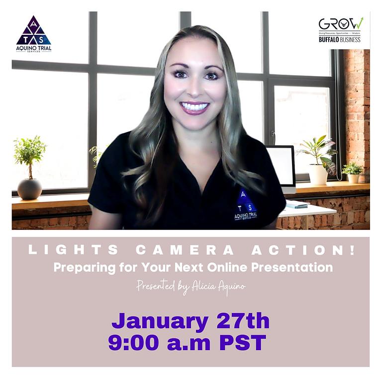 Lights, Camera, Action! Preparing for Your Next Online Presentation