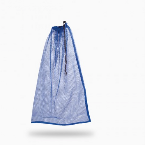 Drawstring Mesh Bag - Blue