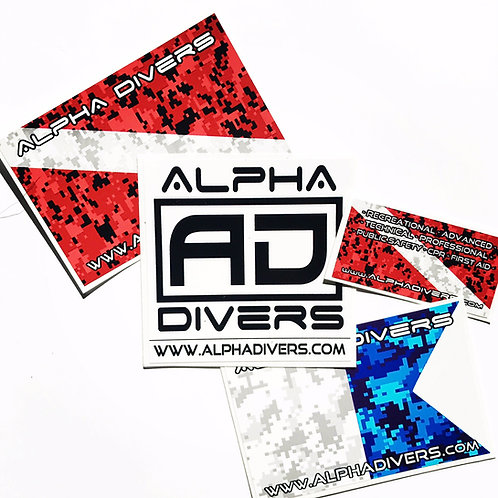 Alpha Divers Sticker Pack