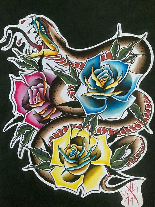 Snake & Rose - Wes