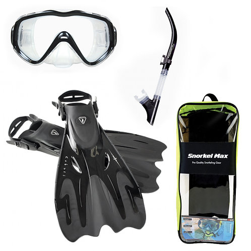 Snorkel Max - Snorkeling Package - Black