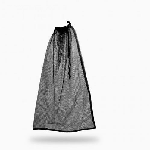 Large Drawstring Mesh Bag - Black