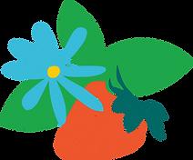 Midsummer Flower Strawberry Graphic