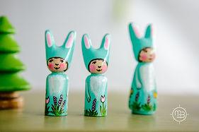 Handmade wooden figures