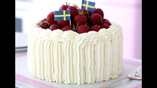 Swedish Midsummer, Strawberry Cream Cake