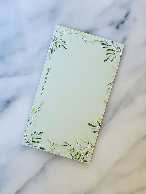Delicate Leaves - Notepad
