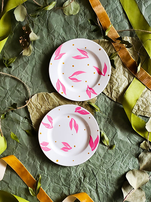 Hand Painted Saucer Plates