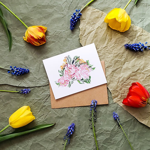 Floral Bunch - Card
