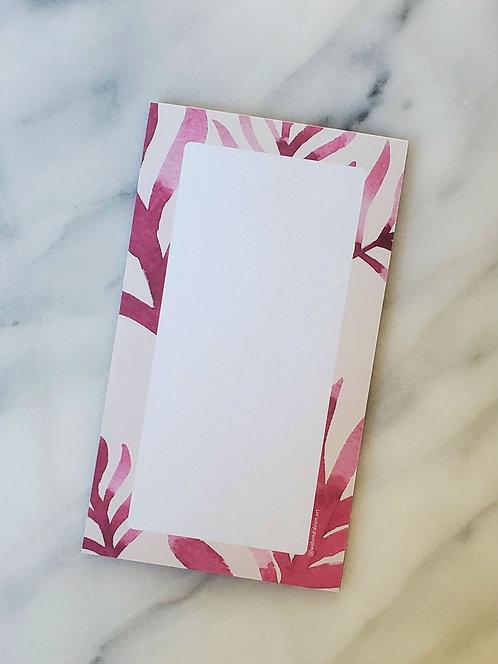 Pink Botanical - Notepad