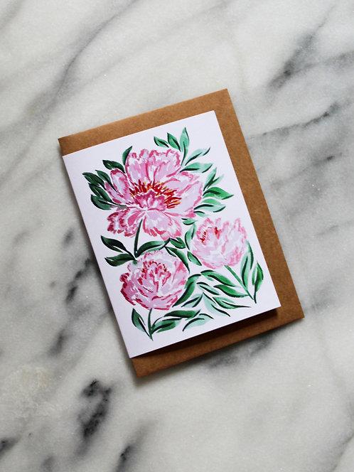 Pink & Green - Card