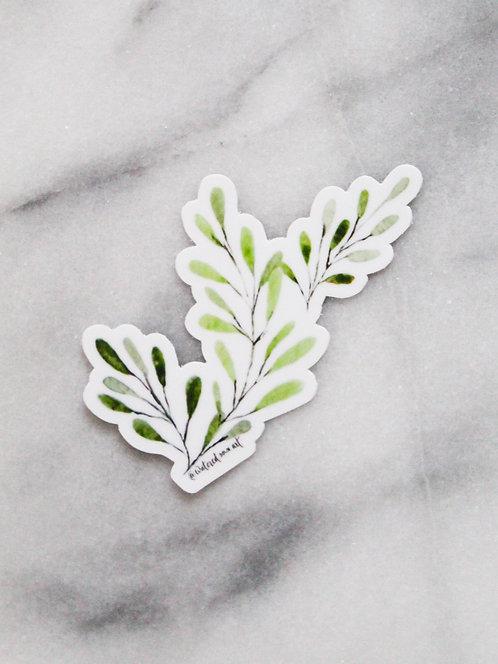 Delicate Leaves - Sticker