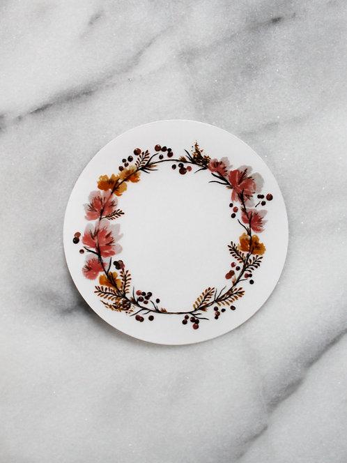 Rustic Wreath - Sticker