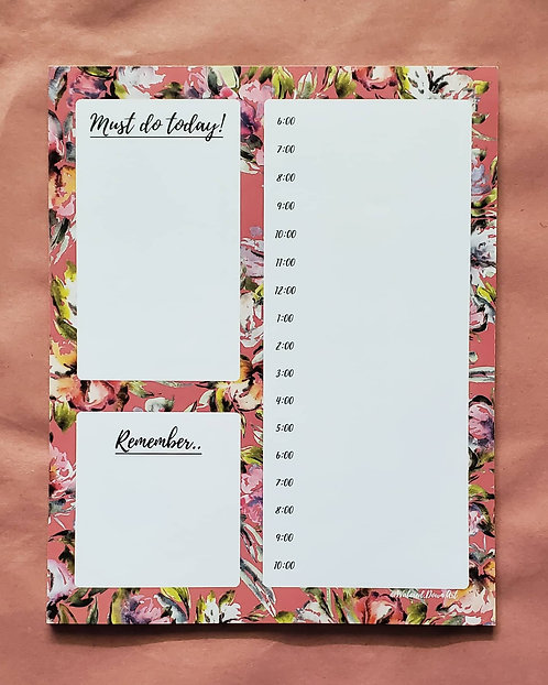 Whimsical Blooms - Daily Notepad