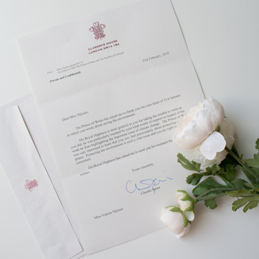 2019 - Letter to Prince Charles