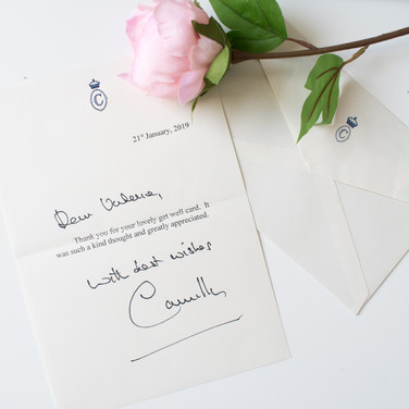 2019 - Camilla Get well card