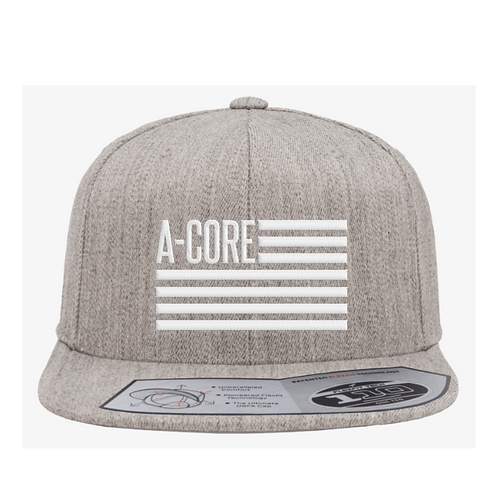 Flat Brim Hat with A-Core Flag Logo