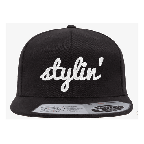 Flat Brim Hat with Stylin' Legacy Logo