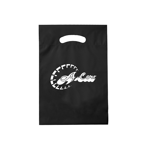 """Die Cut Fold-Over Reinforced Plastic Bag (9""""x13"""") with Logo"""