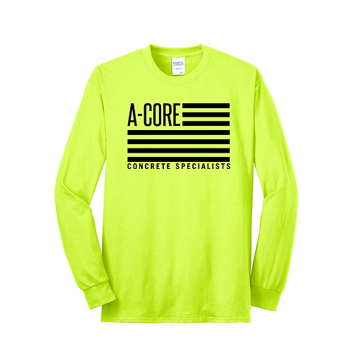 Long Sleeve Safety Color A-Core Flag T-Shirt