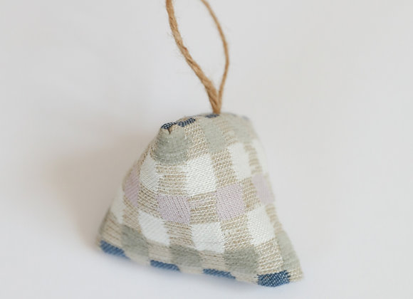 Heather Check Lavender Bag -Sand/blue