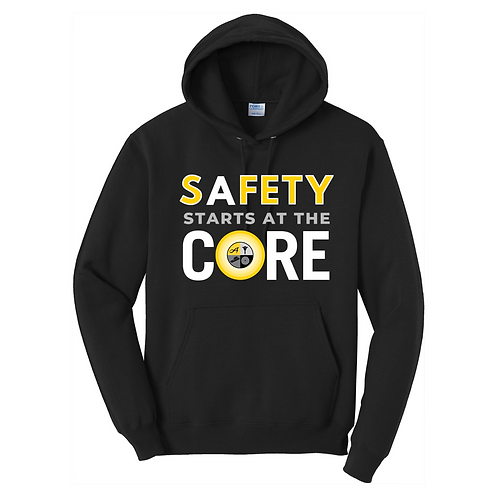 Hooded Sweatshirt with All Color Safety Logo