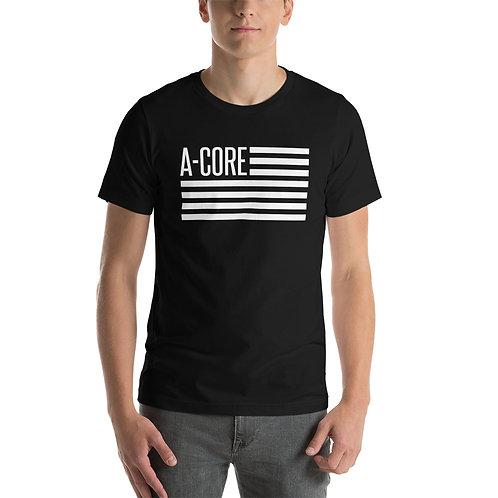 T-Shirt with Flag Logo - Black
