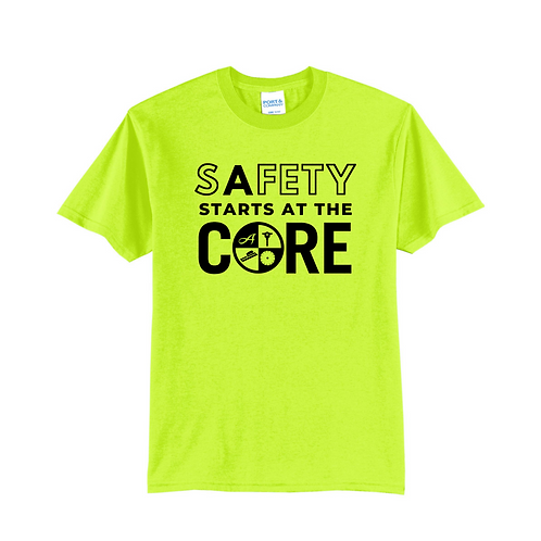 Short Sleeve Safety Color Safety Logo T-Shirt