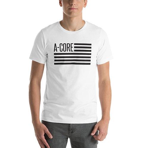 T-Shirt with Flag Logo - White