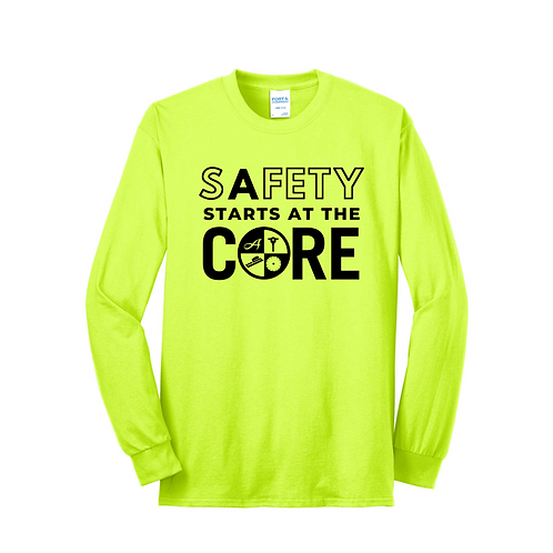 Long Sleeve Safety Color Safety Logo T-Shirt