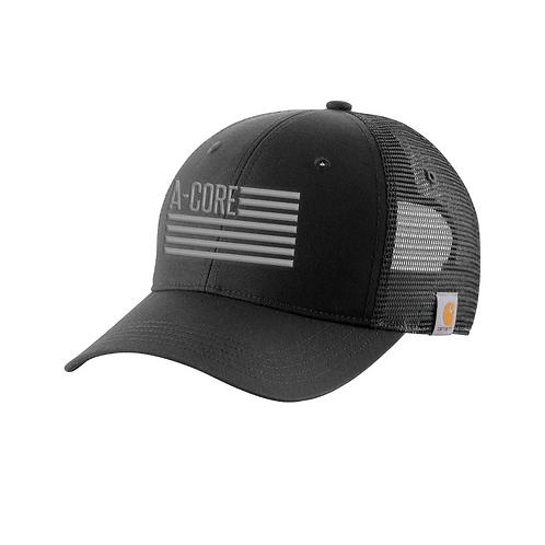 Carhartt Mesh Snapback Hat with Flag Logo