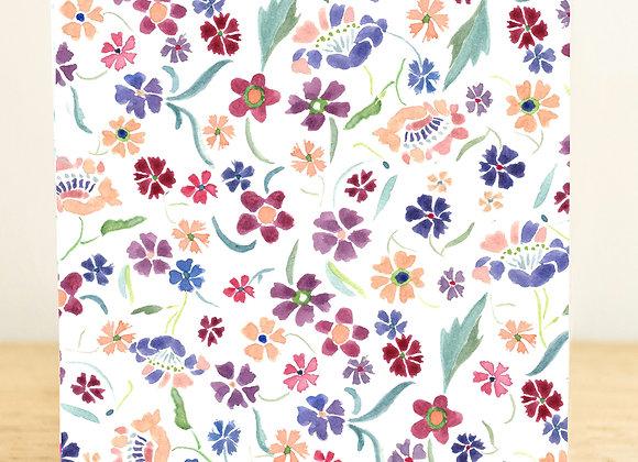 Azalea Floral Greetings Card