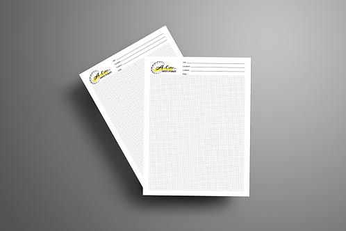 Box of 8x11 Job Grid Notepads