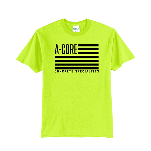 Short Sleeve Safety Color A-Core Flag T-Shirt