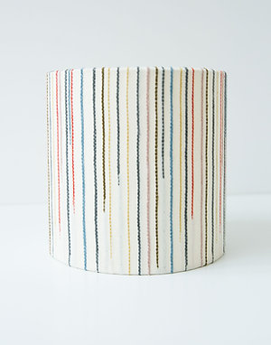 Chalkney Stripe Tub Lamp Shade - Cream