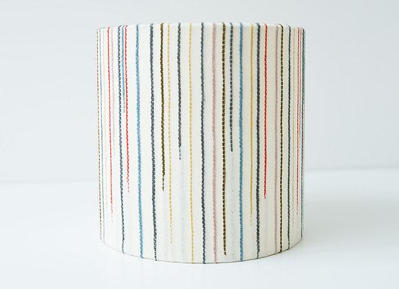 Chalkney Stripe Tub Lamp Shade - Cream