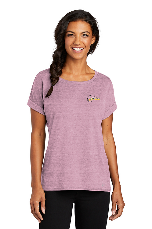 OGIO Ladies Luuma Cuffed Short Sleeve