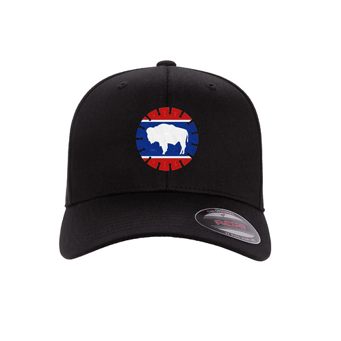 FlexFit Curved Bill with State Flag Blade Logo