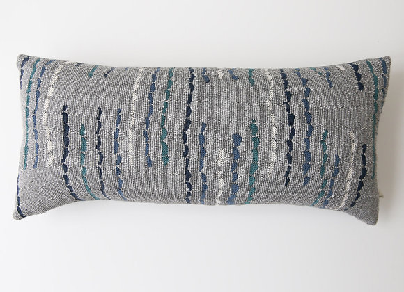 Saltash Cushion - Medium Grey Blue