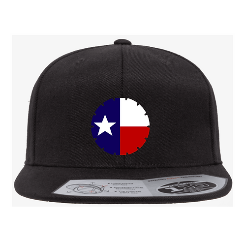 Flat Brim Hat with State Flag Blade Logo
