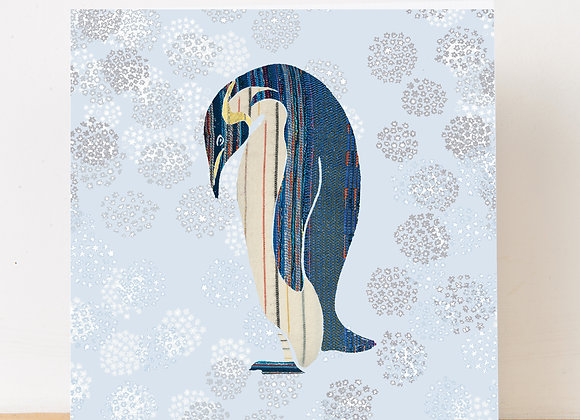 Penguin in the snow Christmas Card