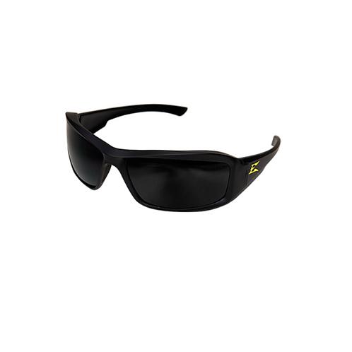 Edge Eyewear Black Brazeau Torque Non Polarized Smoke Lens