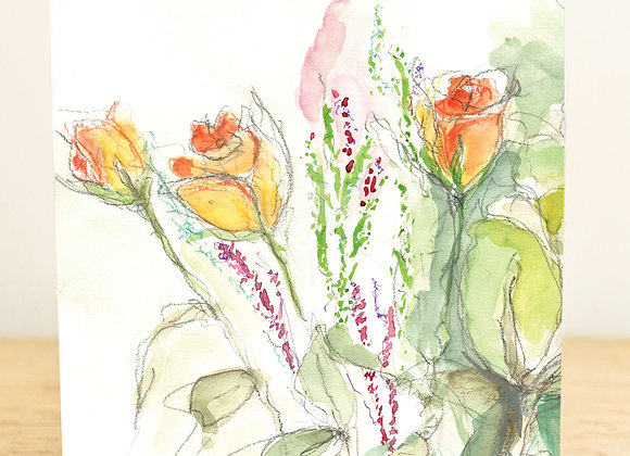 English Rose Greeting Card